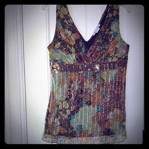 Dressbarn sleeveless blouse Sz XL in brown